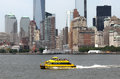 Nyc water taxi yellow for commuting in Stock Images