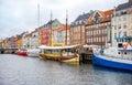 Nyhavn channel, Copenhagen Royalty Free Stock Photo