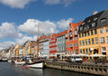 Nyhavn in Copenhagen Royalty Free Stock Images