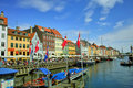Nyhavn in Copenhagen Stock Photography