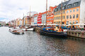 Nyhavn at copenhagen denmark august in the center of on august is old waterfront and canal district in it is Stock Photo