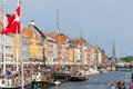Nyhavn copenhagen denmark in the streets of Stock Image