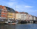 Nyhavn district in copenhagen dennark denmark august on august is a th century waterfront canal and entertainment and a Stock Photo