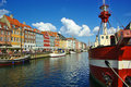 Nyhavn (new Harbor) in Copenhagen Royalty Free Stock Photo