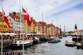 Nyhavn, New Harbor, Copenhagen, Denmark Royalty Free Stock Photo