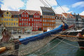 Nyhavn (new Harbor) in Copenhagen, Denmark Royalty Free Stock Photo
