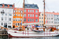 Nyhavn - waterfront, canal in Copenhagen Stock Photography