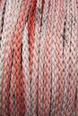 Nylon rope for boats with sand. Roller. Full background Royalty Free Stock Photo