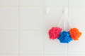 Nylon Shower Body Scrubbers Stock Photography