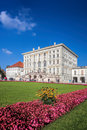 Nymphenburg Palace with the royal garden in Munich, Germany Royalty Free Stock Photo