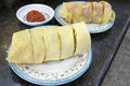 Nyonya peranakan popiah wrap without chili sauce closeup Stock Image