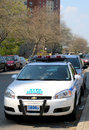 Nypd axillary car in brooklyn ny may on may the new york police department established is the largest police force Stock Images