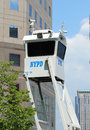 Nypd on high alert after terror threat in new york city august august sky watch platform providing security Royalty Free Stock Images