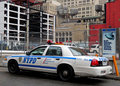 NYPD at Manhattan in New York Cit Stock Images