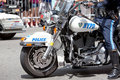 NYPD motorbike Royalty Free Stock Photo