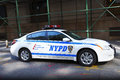 NYPD police car Royalty Free Stock Photo