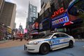 NYPD police car in Times Square Royalty Free Stock Image