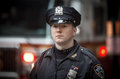 NYPD Police officer in NYC Royalty Free Stock Photo