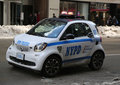 NYPD smallest car Smart ForTwo in Midtown Manhattan.