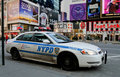 NYPD at Times Square Stock Image