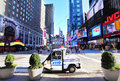 Nypd in times square interceptor vehicle parked at new york city Royalty Free Stock Images