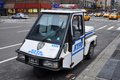 NYPD Tricycle police car in Manhattan Stock Photos