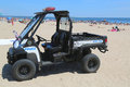 NYPD vehicle at Coney Island beach in Brooklyn Royalty Free Stock Photo