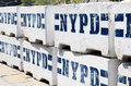 Nypd wall sign on the in new york Stock Image