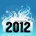 Nytt år för 2012 design Royaltyfria Foton