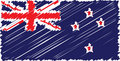 Nz flag scribble Stock Photos