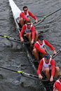 O enfileiramento francês compete na cabeça do campeonato eights de charles regatta men Imagem de Stock Royalty Free