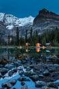 O`Hara Lake Lodge twilight Royalty Free Stock Photo