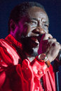 The o jays lincoln ca august eddie levert sr of performs at thunder valley casino resort on august in lincoln california Royalty Free Stock Images