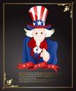 O julho sam greeting card Imagem de Stock Royalty Free