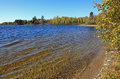 O'Leary Lake in northern Minnesota Royalty Free Stock Photo