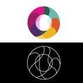 O Letter logo, icon, vector design template