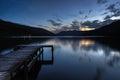 O Loch escocês ganha na vila de Fillans de Saint com p Imagem de Stock Royalty Free