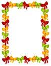 O Natal curva o frame das fitas Imagens de Stock Royalty Free