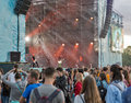 O.Torvald rock band performs at Atlas Weekend. Kiev, Ukraine.