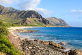 Oahu hawaii the hawaiian rugged coast along the windward side of Stock Photos