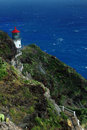 Oahu Island lighthouse Royalty Free Stock Image