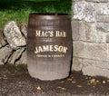 Oak Barrel With Advertisements