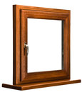 Oak laminated fiberglass window Royalty Free Stock Images