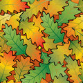 Oak leaf abstract background. Seamless. Royalty Free Stock Photo