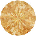 Oak pieces table round made from recycled of in natural colour Stock Images