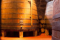 Oak Port Wine Barrels, Porto Royalty Free Stock Photo
