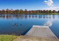 Oak ridge marina the at melton lake park tennessee usa Royalty Free Stock Image