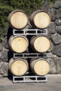 Oak Wine Barrels Royalty Free Stock Images
