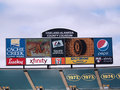 Oakland-Alameda County Coliseum digital Scoreboard Stock Photography