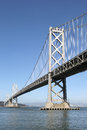 Oakland Bay Bridge in San Francisco, California Royalty Free Stock Photo